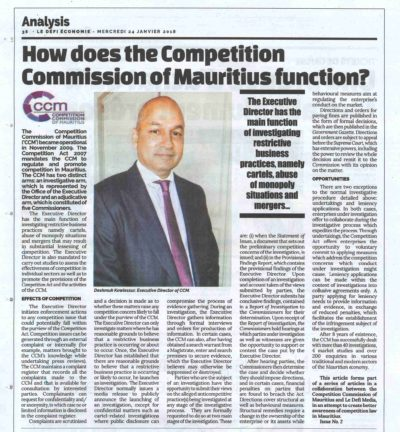 HOW DOES THE COMPETITION COMMISSION OF MAURITIUS FUNCTION?​