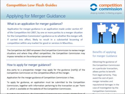 Applying for merger guidance
