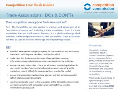 Recommended Practices for Trade Associations
