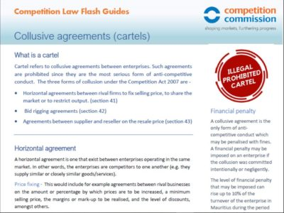 Collusive agreements (cartels)