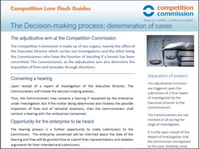 The decision-making process: determination of cases