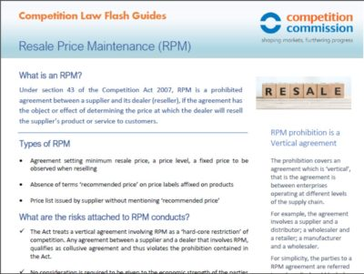 Resale Price Maintenance (RPM)