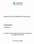 Decision of Commissioners on the Potential collusive agreements by the Association of Freight Forwarders (APT)