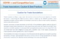 COVID19: Caution and best practices for Trade Associations