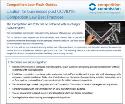 Caution for businesses post COVID19:Competition Law Best Practices