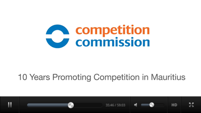 Corporate video clip to mark the 10 years of the Competition Commission